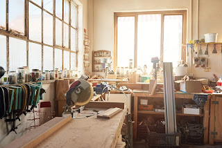 professional woodworking shop