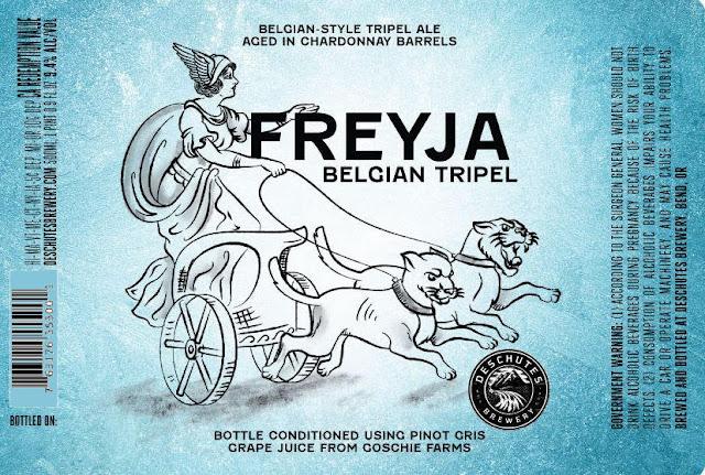 Deschutes Adding Freyja Barrel-Aged  Belgian Tripel