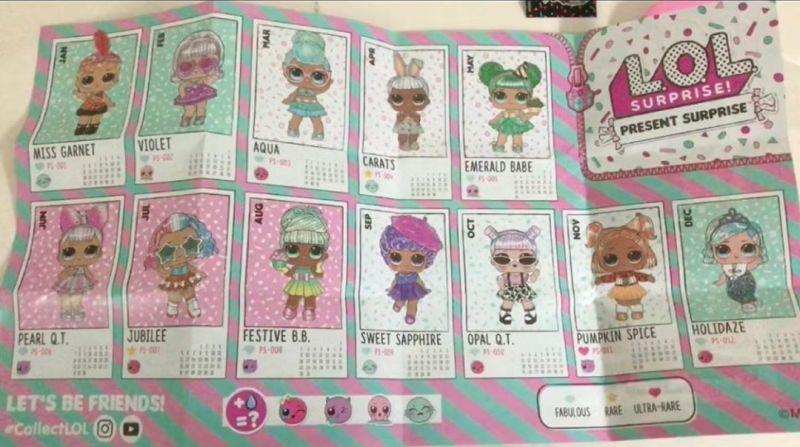 Вкладыш с именами новых кукол Лол Сюрприз Подарок ко Дню Рождения 2020