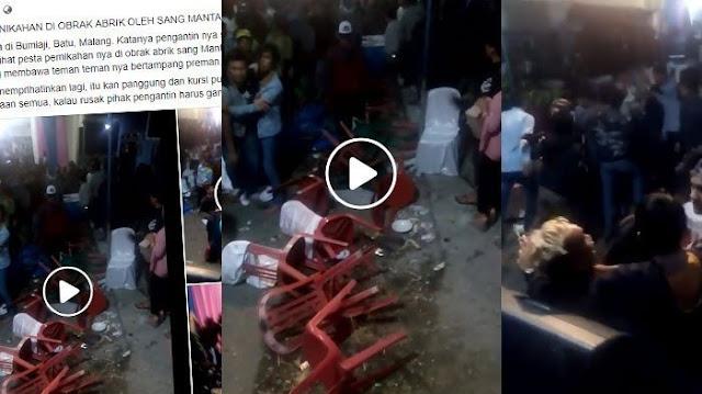 Video Viral Mantan Kekasih Pengantin Diduga Hancurkan Pesta Pernikahan, Ini Fakta Sebenarnya!