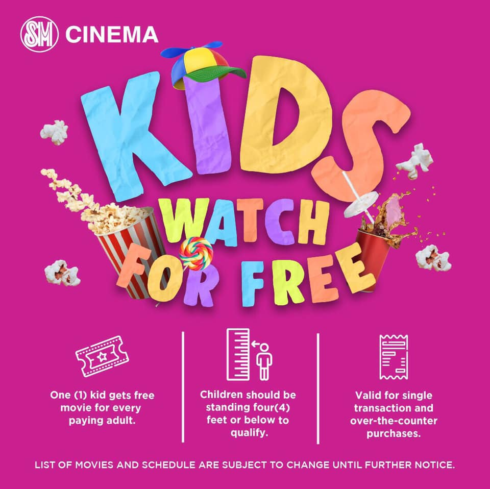 Kids can now watch at SM Cinema for FREE until December