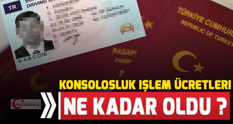 Almanya Türk Konsolosluk Harç Vekalet Ücret 2020