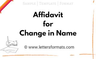 affidavit for change in name sample