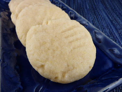 Photo of Rose's Sugar Cookies on a blue plate