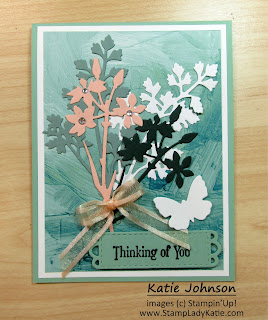 greetinc card made with layered dies using Stampin'Up'!s Quiet Meadow Dies