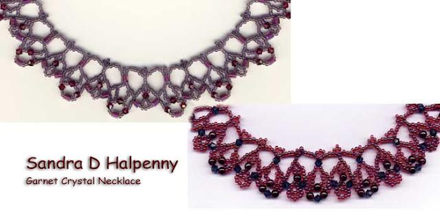 Garnet Crystal Necklace Pattern