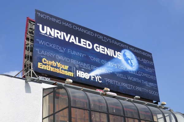Curb Your Enthusiasm s9 Emmy FYC billboard