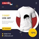 T-Shirt : Line Art Cowo Pree Order