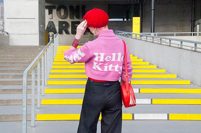 Hello Kitty, GCDS. pink hair