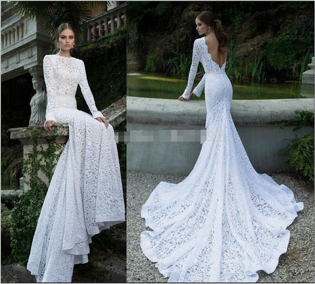 long wedding dresses sexy mermaid