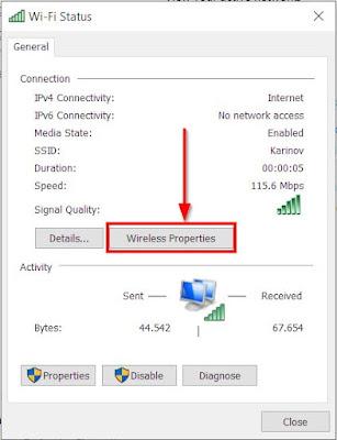 klik untuk lihat password wifi