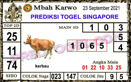 Prediksi Jitu Mbah Karwo Togel Singapura45 Top Kamis 23-09-2021