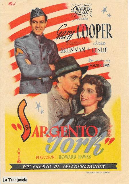 Sargento York - Programa de Cine - Gary Cooper - Joan Leslie