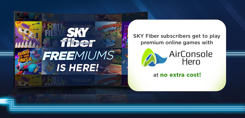 SKY Fiber announces FREE 6-month access to AirConsole Hero for subscribers