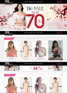 Giao diện Web bán Nội y - Theme Blogspot - Blogspotdep.com
