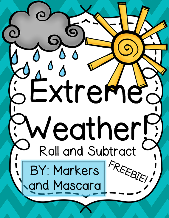 http://www.teacherspayteachers.com/Product/Extreme-Weather-Roll-and-Subtract-1216095