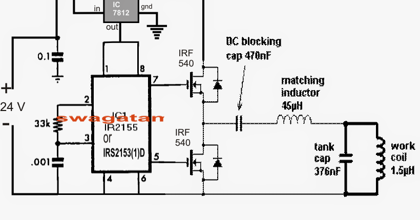solar induction heater circuit