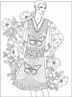 nice flower fashion adult printable coloring pages