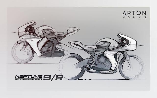 Triumph Trident 660 Cafe Racer Fairing Kit By Arton Works |  Bolt-On Kit