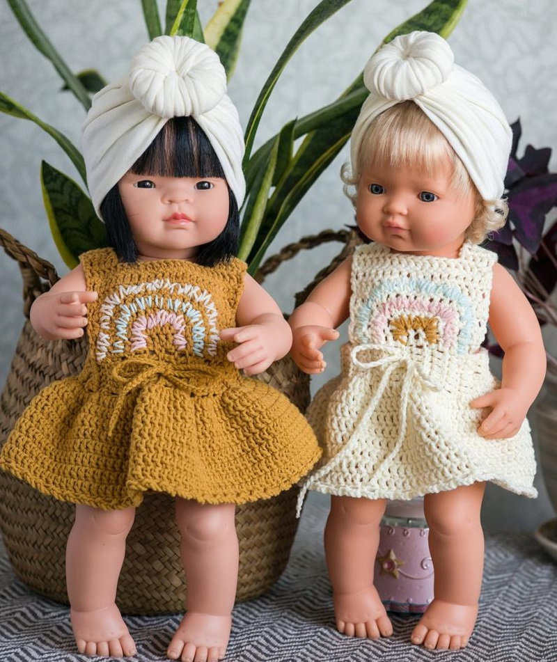 lesyas doll shop crochet miniland doll clothes