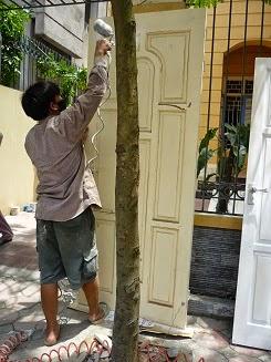 sơn sửa cửa gỗ tại nhà tphcm