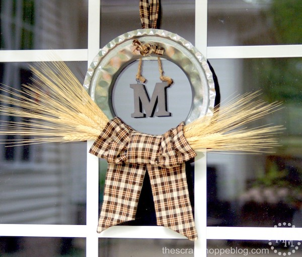 rustic harvest monogram wreath