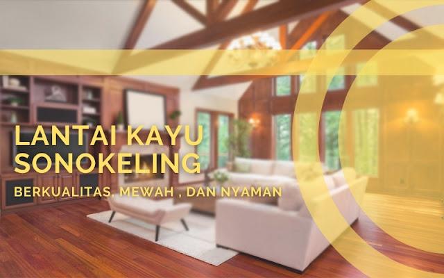 lantai kayu pada bangunan rumah