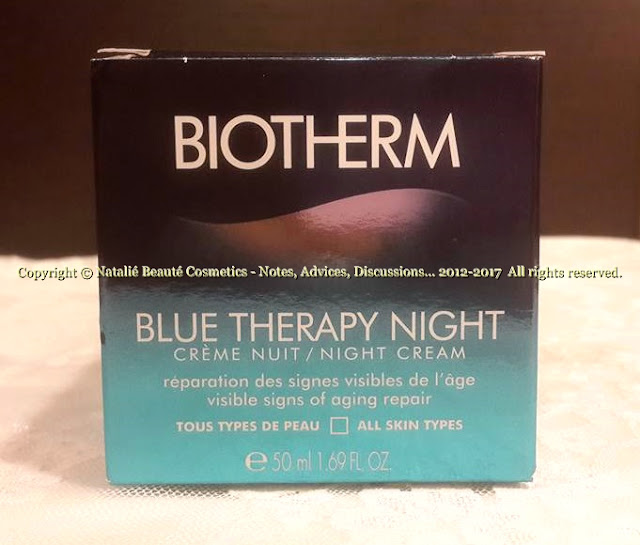 BLUE THERAPY NIGHT AND BLUE THERAPY EYE - PERSONAL REVIEW AND PHOTOS by Author Natalié Beauté