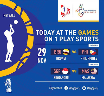 Live Streaming Netball Malaysia vs Singapore 29.11.2019