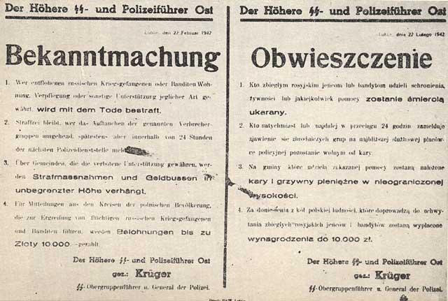 German warning against aiding partisans, 22 February 1942, worldwartwo.filminspector.com