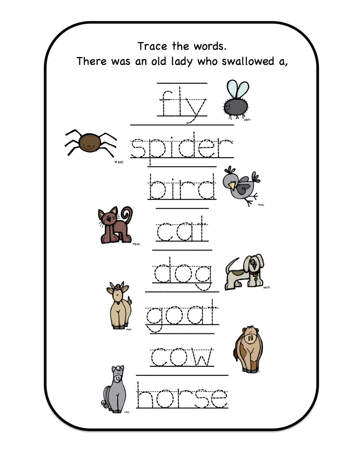 Poem Farm Animals Printables