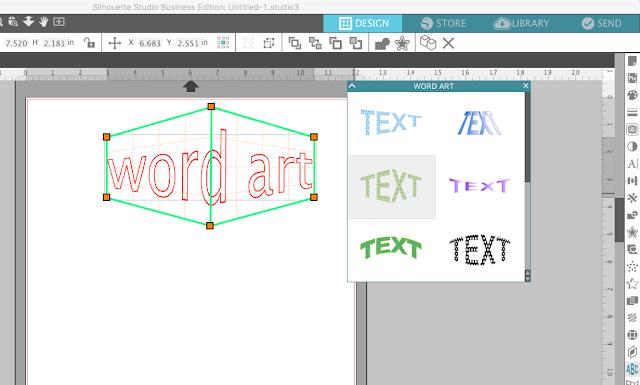 silhouette studio word art tool  v4.1 v4 new features word art tutorials