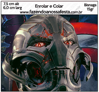 Etiquetas de  Vengadores para imprimir gratis