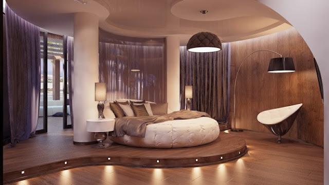 футуристическая спальня