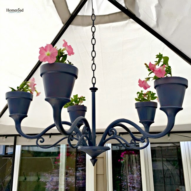 Repurposed Flower Pot Chandelier Homeroad