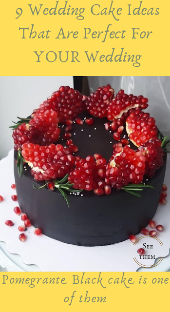 Pomegrante Black Cake - wedding ideas - wedding ideas blog by K'Mich - wedding planning serivces in Philadelphia PA - on the day wedding planner