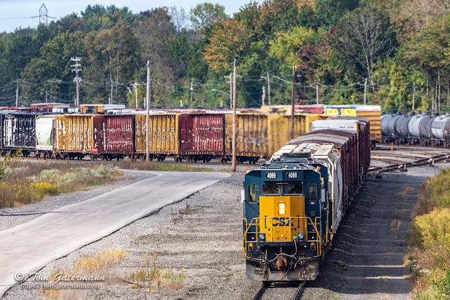 CSXT 4089 and CSXT 4046 is a view from the Green Bridge