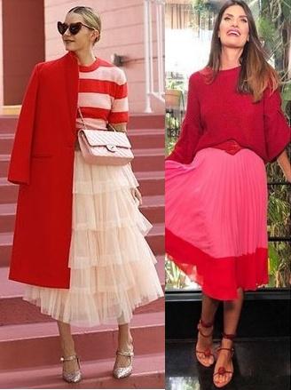 Tendência vermelho e rosa, Blair Eadie, Isabela Fiorentino