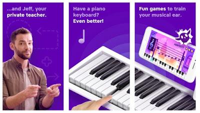تطبيق أكاديمية البيانو - لتعليم العزف
