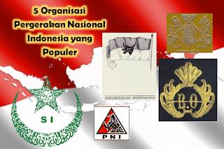 Rangkuman Organisasi pergerakan Nasional Indonesia