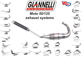 VE Scooter Spares: Giannelli Moto 50/125 Exhaust Systems