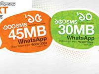 SMS Bundle and 45MB Whatsapp on Banglalink customers