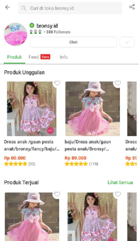 Toko bronsy.id Salah Satu Toko Baju Anak Terlaris di Tokopedia