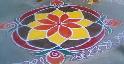 Dotted Happy New Year Rangoli Design Images