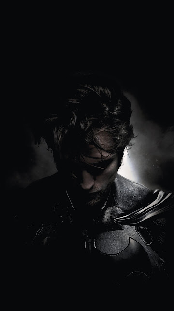 amoled Batman Robert Pattinson phone wallpaper in 1080 x 1920 pixels