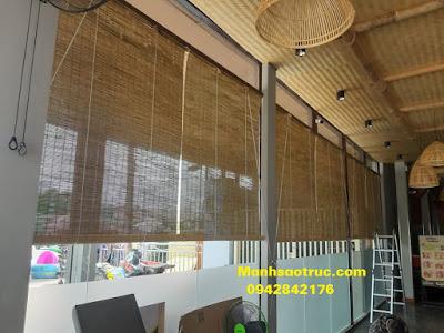 Mành trúc cật che nắng nhà hàng