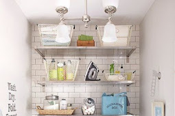 Farmhouse Laundry Room Ideas with Smart Storage and Organizer