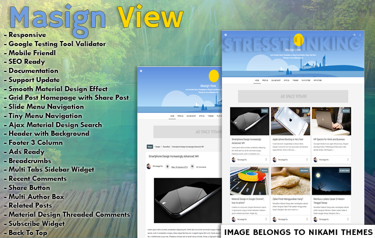 Masign View Responsive Blogger Template