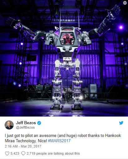 www.fertilmente.com.br - Jeff Bezos ja pilotou o Hankook pelo menos uma vez, e publicou a experiência em seu Twitter