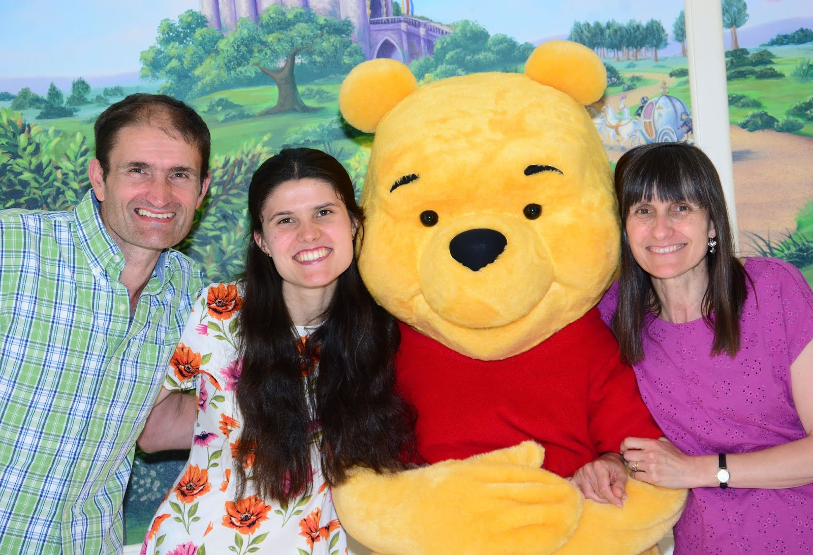 Meeting Winnie the Pooh at Walt Disney World in Florida